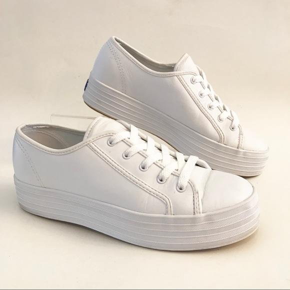 f6fa86e136b Keds Shoes - Keds Platform White Leather Sneaker Rare Size 6